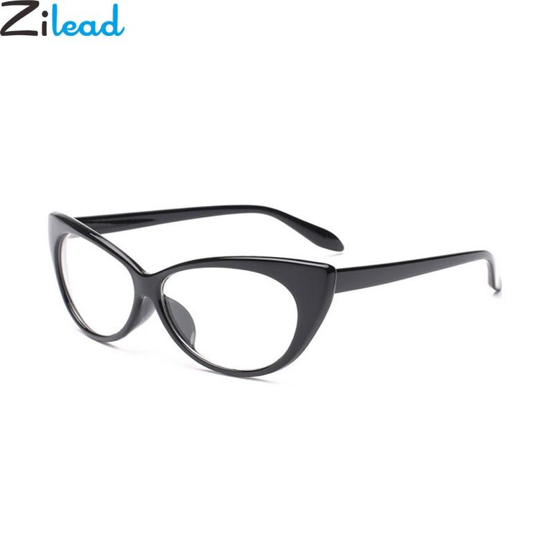 Zilead Retro Cat Eye Plain Spectacle Glasses Brand Vintage Women Clear Lens Glasses Computer Glasses Eyewear Frame Unisex