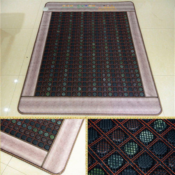 Best Quality+Digital Display ! Tourmaline Mat Physical Therapy Mat Jade Health Care Pad infrared Heat Cushion! Free Shipping health care heating jade cushion natural tourmaline mat physical therapy mat heated jade mattress high quality made in china