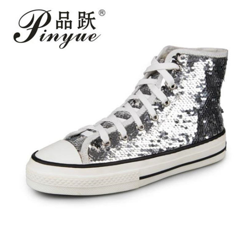 2019 Platform shoes with thick high quality Casual shiny crystal Woman Sneakers fashion summer comfortable cool