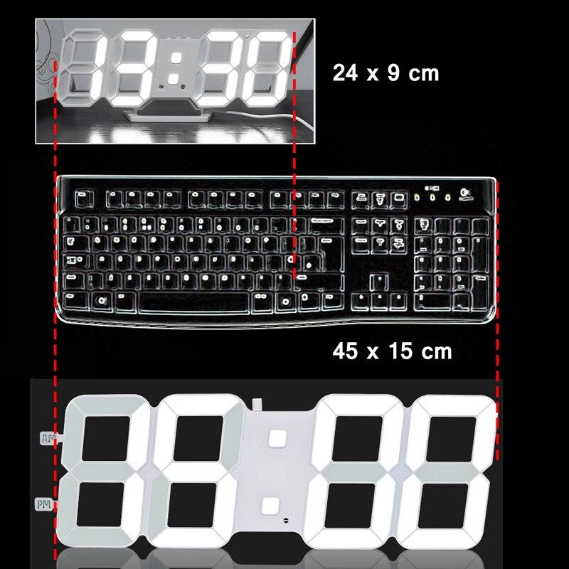 대형/소형 3d 거실 벽시계, 점보 모던 led, txl 지능형 조명 감지 led 디지털 시계, 저소비