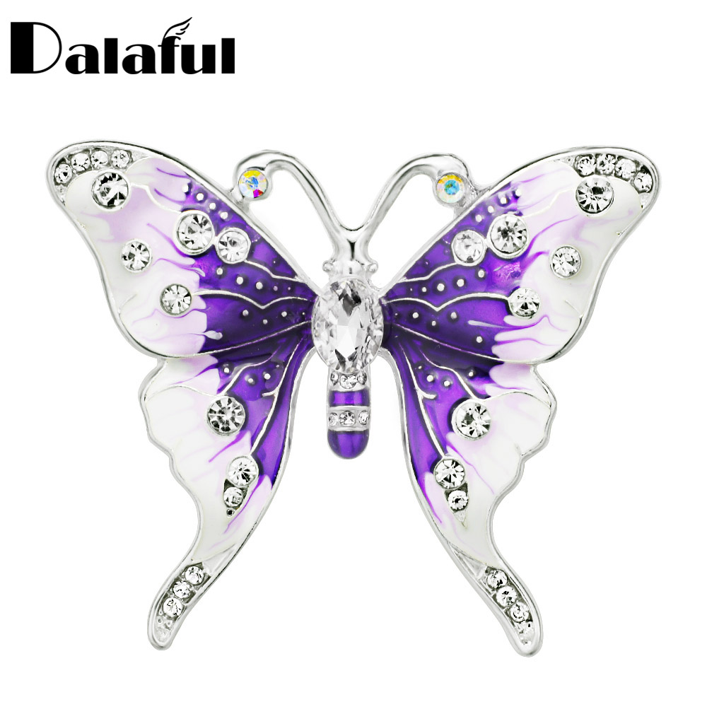 Hand Painted Butterfly Brooches Women Colorful Brooch Scarf Pins Accessories