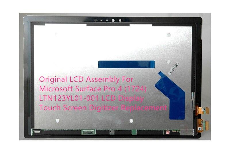 Assemblée LCD d'origine Pour Microsoft Surface Pro 4 (1724) LTN123YL01-001 LCD Affichage Écran Tactile Digitizer Remplacement