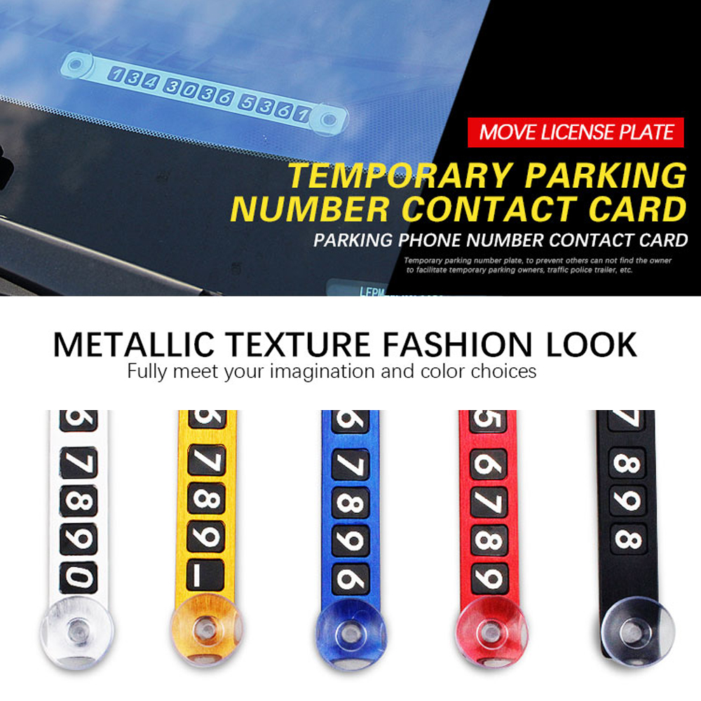 Car Parking Card Temporary Phone Number Card Plate Sucker