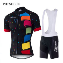 Phtxolue 2019 Cycling Jerseys Sets Breathable Bike Clothing Polyester Quick-Dry Bicycle Clothes Ropa Ciclismo