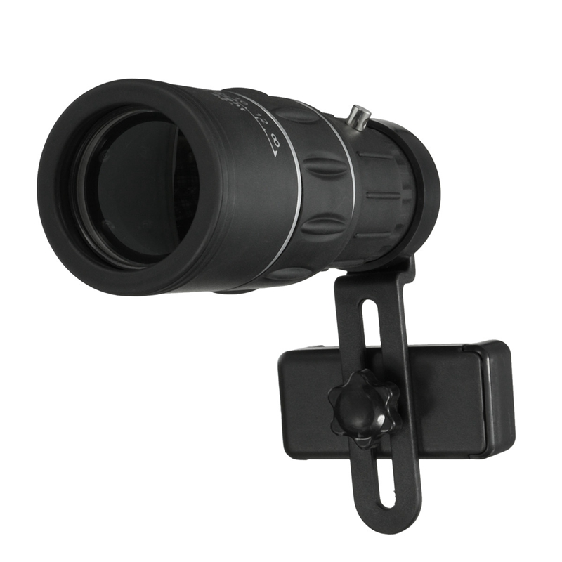 bilder für Universal 16x52 telefon wandern monocular-teleskop linse optisches glas camping teleskop mit clip halter für iphone für samsung