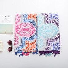 2017 Women Summer Autumn Nepal Bandana Scarf Hijab Floulard Shawl Scarves Cotton Beach Blanket Bufandas Fringe Tassel S223