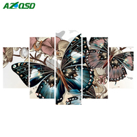 AZQSD Full Diamond Painting Cross Stitch Butterfly Unfinished Decor Diamond Embroidery Mosaic Handicraft Gift Multi Collage