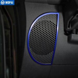 Image 3 - Anillo de decoración de altavoz para salpicadero de para coches MOPAI, pegatinas para Jeep Wrangler JK 2013 2018, accesorios de decoración para Interior de coche