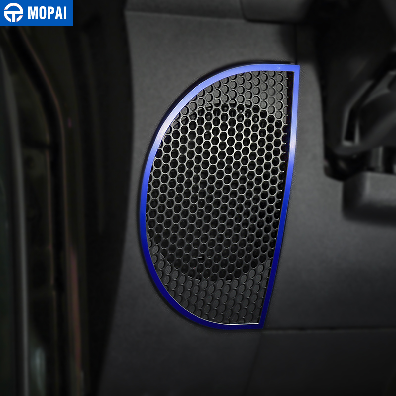 Image 3 - MOPAI Car Dashboard Audio Lound Speaker Decoration Ring Stickers for Jeep Wrangler JK 2007 2010 Interior Car Accessories Styling-in Interior Mouldings from Automobiles & Motorcycles