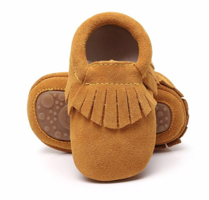 New soft bottom genuine suede leather infant fringe Baby moccasins Newborn 0-24M first walker baby shoes Non-slip hot sale
