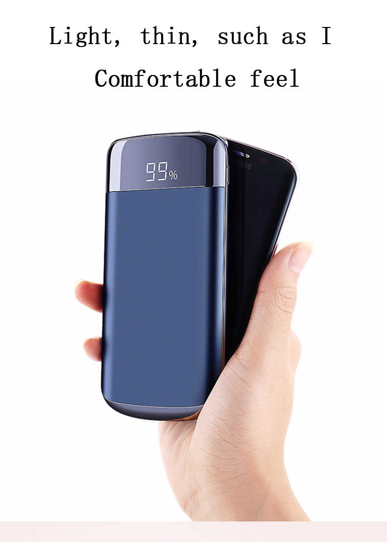 30000mah قوة البنك بطارية خارجية PoverBank 2 USB LED تجدد Powerbank المحمولة الهاتف المحمول شاحن هواتف xiaomi سامسونج iphone XS