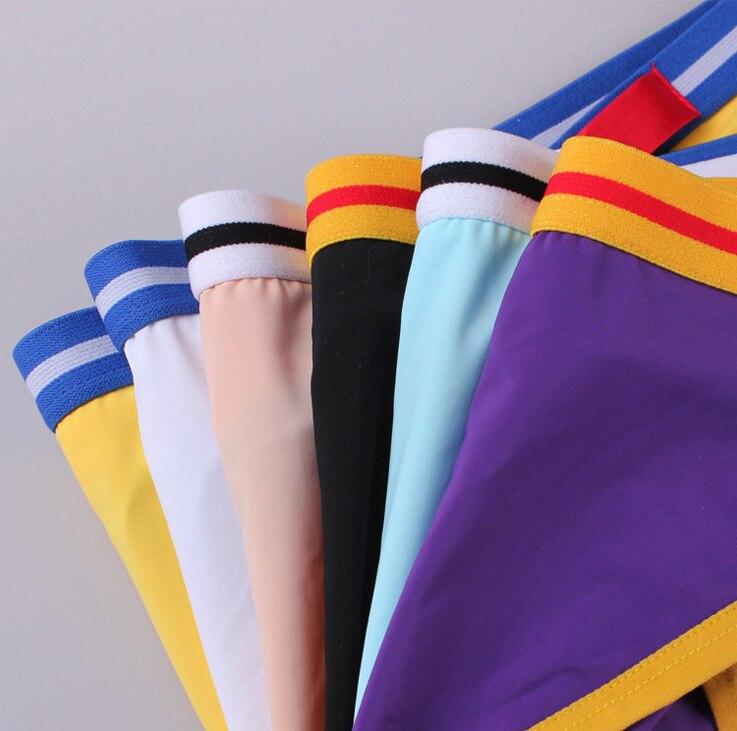 Sheer Mens Underwear sexy Briefs shorts Nylon silk fabric Panties crazy Bikini the bugle enhancer Tight style Underpants in Briefs from Underwear Sleepwears