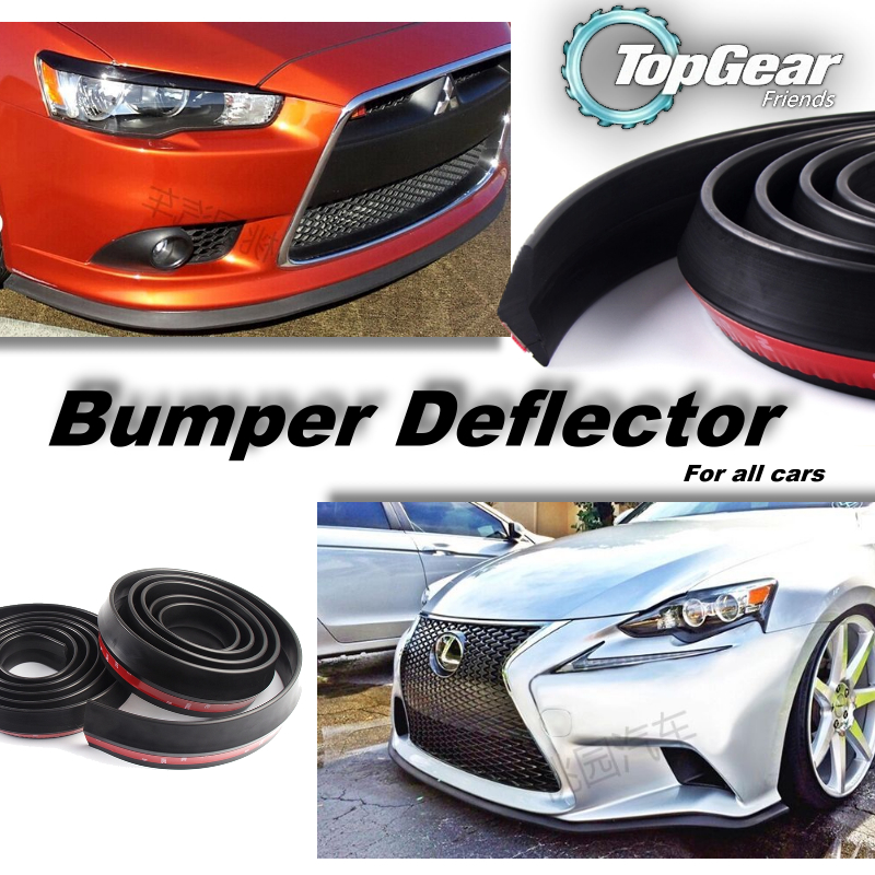 Bumper Lip Deflector Lips For Car Front / Rear All Sides Spoiler Lip Spliter Valance Car Tuning View / Body Kit / Strip