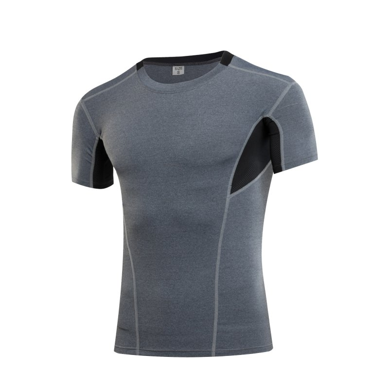 Cool Sports Men Compression Athletic Apparel Sport T-Shirt Quick Dry Fitness Running Gym Training Short Sleeve Tops Tees