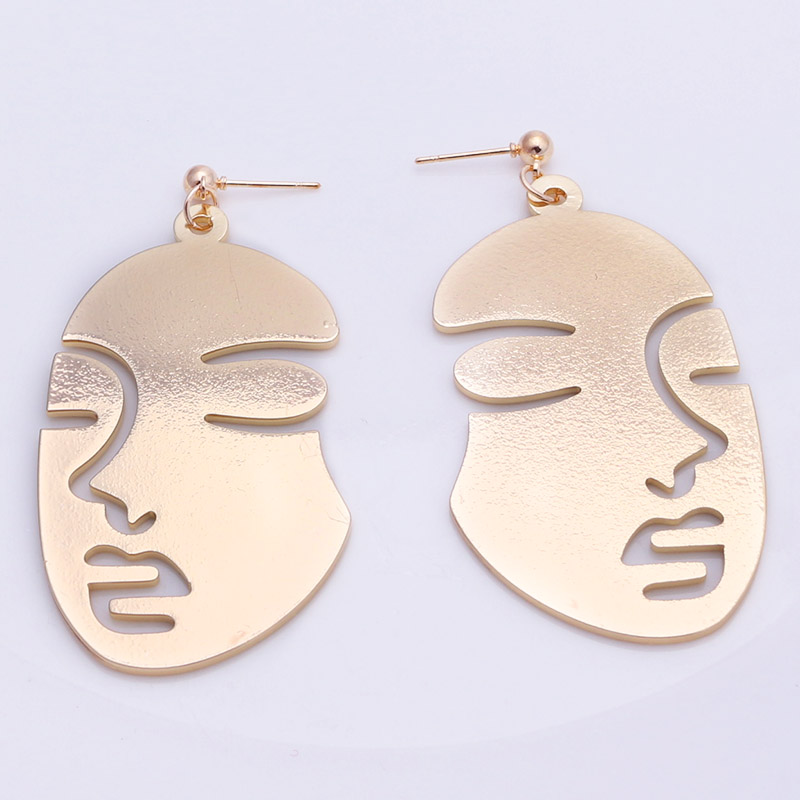 19 New Arrival Abstract Stylish Hollow Out Face Dangle Earrings Girls Statement Drop Earrings Charm Statement Earrings ES4 2