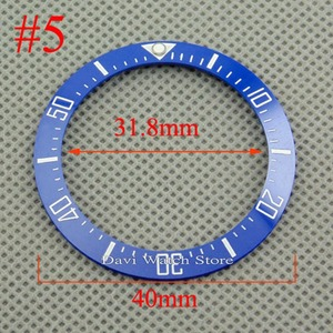Image 5 - 40mm שחור כחול ירוק לבן קרמיקה bezel fit אוטומטי BLIGER שעון