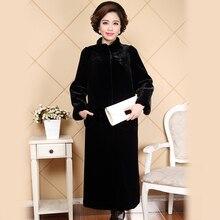 Nerazzurri New 2017 Winter Long Faux Mink Fur Coat Thick Warm Solid Loose Fit Fake Fur Jackets Women Coats 5xl 6xl Plus Sizes