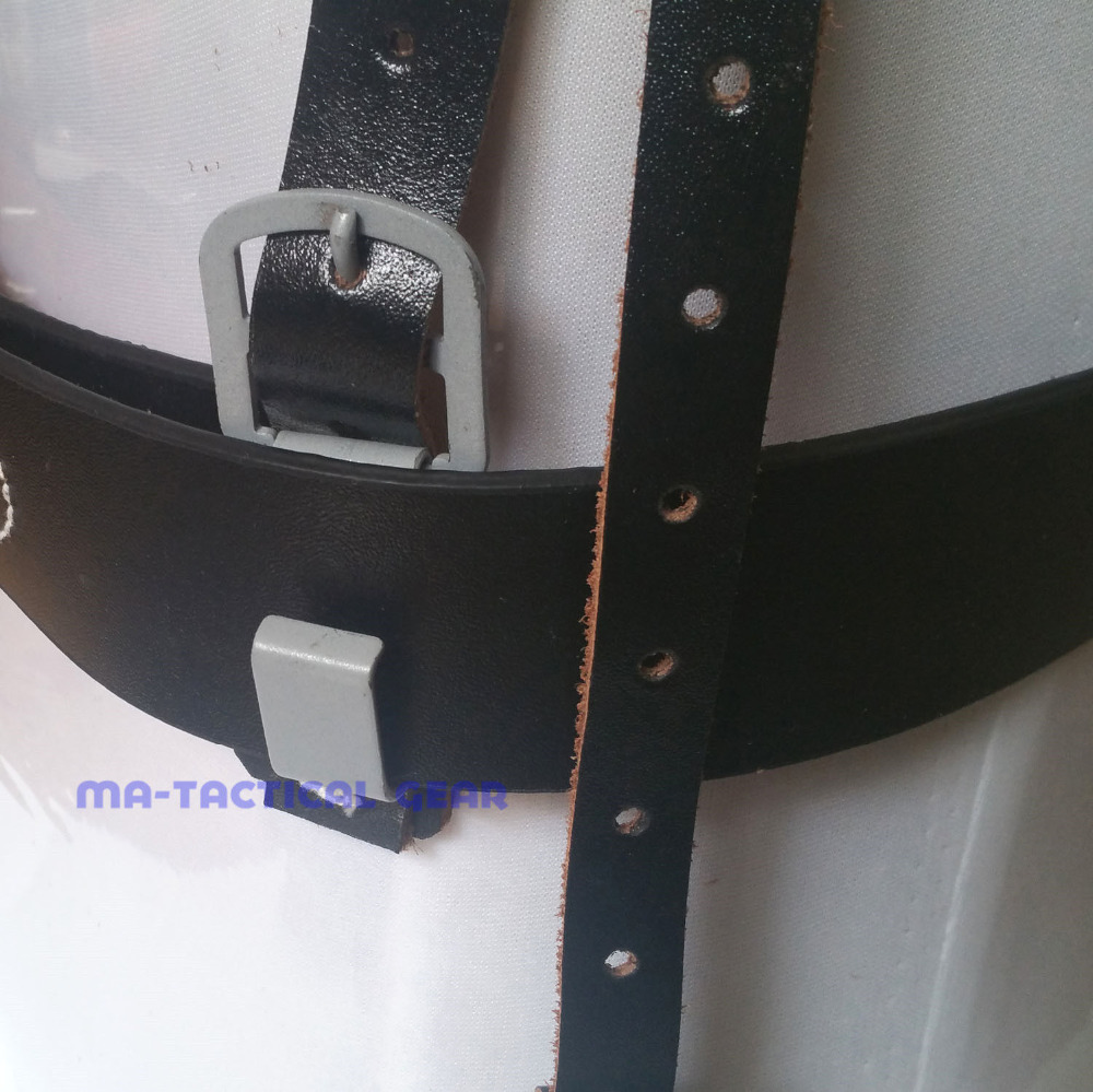 WWII GERMAN ARMY WH LEATHER SERVICE EQUIPMENT BELT WITH METAL BUCKLE XXL