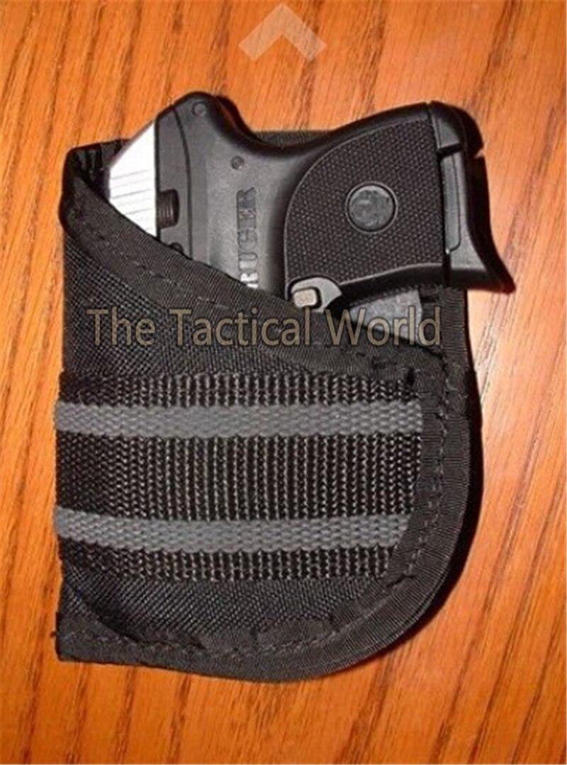 US $6 93 48% OFF|Tactical Hunting Ruger LCP Pocket Holster đối Pistol 22 25  380 Xe Ô Tô Nylon Handgun Túi Gun Pouch Bắn Súng Airsoft Phụ