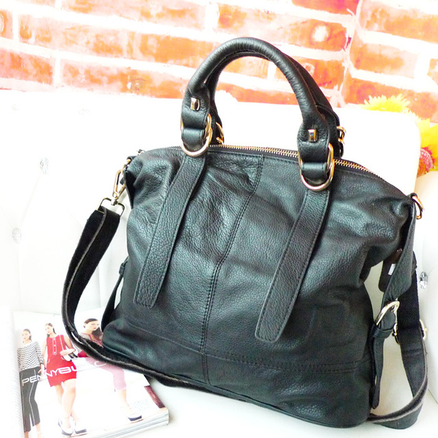 Small coffee shop 2013 new winter embossed first layer of leather bags leather handbags professional white-collar commuter