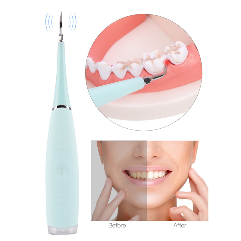 Portable Electric Sonic Ultrasonic Dental Scaler Tooth Calculus Remover Tooth Stains Tartar USB Charging Teeth Whitening Tool49