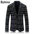 2017 nueva llegada de la alta calidad de la manera solo botón chaqueta informal hombres Classic plaid blazer jacket,. tamaño M, L, XL, XXL, XXXL.