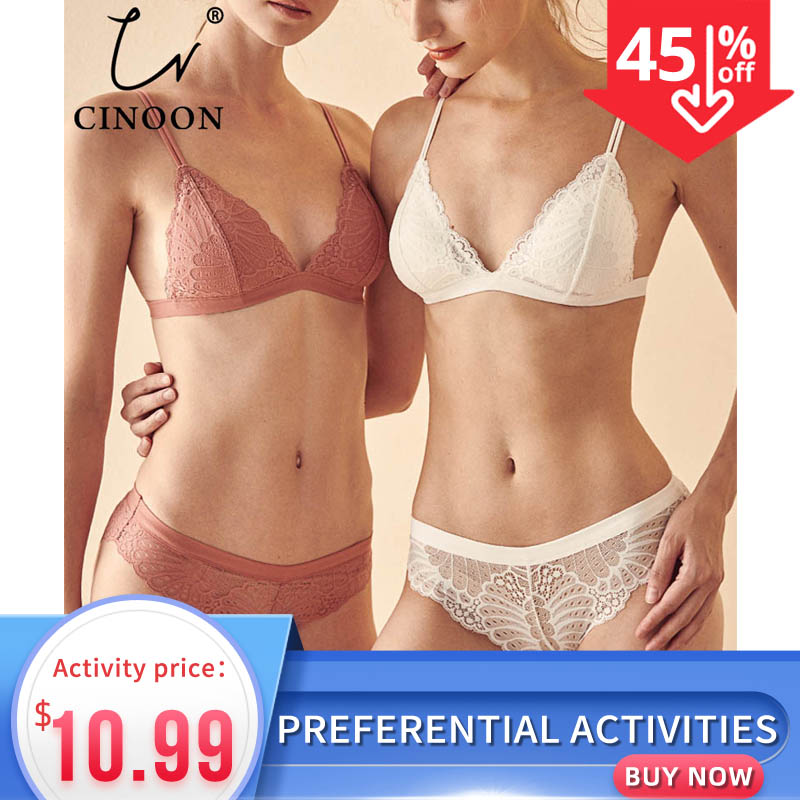CINOON Women Lace   Bra     Set   Lingerie   Set   Sexy Women Underwear   set   Ladies Sexy Bralette   Set   VS   Bra   soft Comfortable Lace Underwear