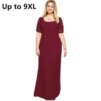 Formal Long Lace Dress For Eevening Party Plus Size 6XL 7XL 8XL 9XL Dress For Women