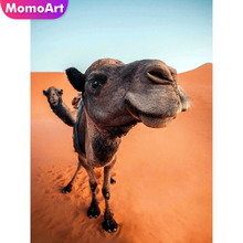 MomoArt Diamond Mosaic Camel Full Drill Square Painting Animal 5d Embroidery Corss Stitch Gift