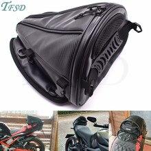 new carbon fiber color motorcycle tail bag motorcycle seat backpack saddle bag custom travel handbag For Yamaha YZF-R25 YZF-R3 недорого