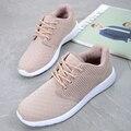 Nueva llegada sport casual zapatos de las mujeres de calidad superior zapatos de los planos de las mujeres entrenadores superestrella otoño transpirable zapatos para caminar mujer