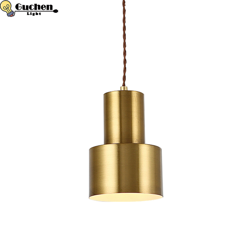 Modern Gold Copper pendant lamp led Home lightting Decor ceiling fixtures living room bedroom kid room mirror hanglamp luminaria