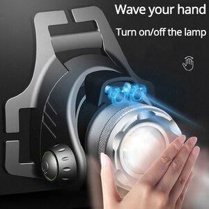 Image 2 - KÍNH BƠI SHENYU TRÁNG Cảm Biến Hồng Ngoại LED Sạc Phóng To Quay Siêu Sáng Đèn Pin Cree XML T6 L2 Đèn Pha Đi Bộ Đường Dài Cắm Trại