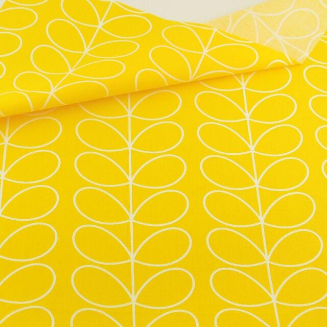 Tecido Лоскутное Постельные Принадлежности Украшения Ткани Желтый Цветок Хлопка Ткань Лоскутное Домашний Текстиль для Шитья Ткани Craft Teramila Ткани