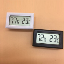 Hot Black/white Digital Thermometer Hygrometer Mini LCD Indoor Temperature Sensor Humidity Meter Gauge Instruments Cable