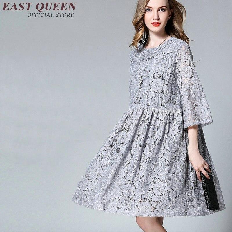 97632fdd601 Летнее платье большого размера женское платье 2018 большой размер кружевные платья  Летний стиль Туника женская большой