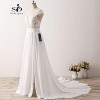 Wedding Dress 2017 SoDigne New Fashion Lace Applique Mermaid Nude Back Princess Beach Vestido De Noiva