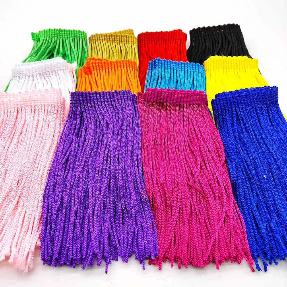 Beatiful 1Yard  Lace Fringe Trim 10cm Wide Tassel Fringe Trimming For DIY Latin Dress Stage Clothes Accessories Lace Ribbon