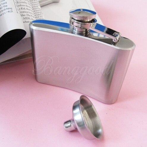 Stainless Steel Pocket Hip Flask Gin Whisky Alcohol Wine Liquor Bottle Screw /Cap 4oz
