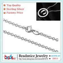 Beadsnice ID28814 новое прибытие чистая стерлингового серебра 925 роло цепи ожерелье чистого серебра ожерелье цепь для элегантный дизайн