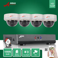 ANRAN 4CH HD 1080N HDMI AHD DVR 720P CCTV Day Night 500GB HDD Home Security Camera