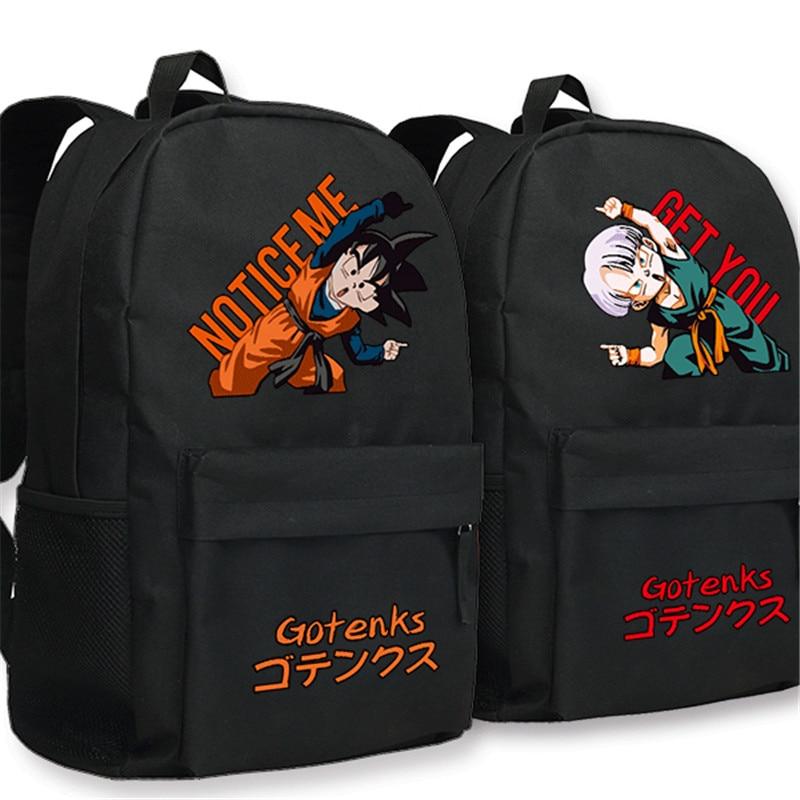 Dragonball Cartoon Backpack Anime Cosplay Son Goku Gotenks Schoolbag Casual Boys Girls School Shoulder Rucksack Bags for TeenageDragonball Cartoon Backpack Anime Cosplay Son Goku Gotenks Schoolbag Casual Boys Girls School Shoulder Rucksack Bags for Teenage