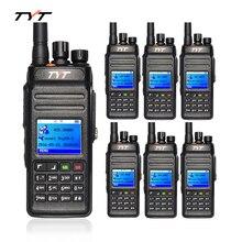 6pcs TYT MD398 DMR Digital Radio Walkie Talkie UHF 400-470MHz 10W Waterproof IP67 Two Way Radio Handheld HF Transceiver