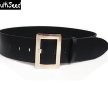2020 Newest Wide Belt Lady PU Leather Buckle Waist Belt 6CM