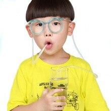 New Fun Soft Plastic Straw Funny Glasses Flexible Drinking Toys Party Joke Tube Tools Kids Baby Birthday Toys