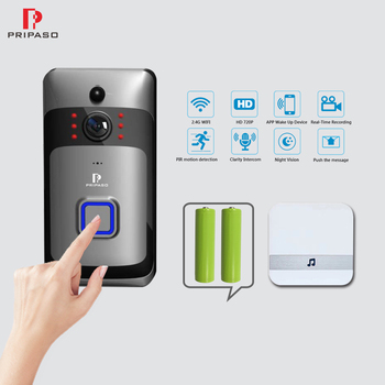 Pripaso Wifi Doorbell Camera Smart WI-FI Video Intercom Door Bell HD 720P IR Night Vision Camera Alarm Wireless Home Security 1