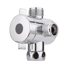 1/2 inch 3 Way T-adapter Toilet Bidet Bath Shower Head Arm Mounted Diverter Valve