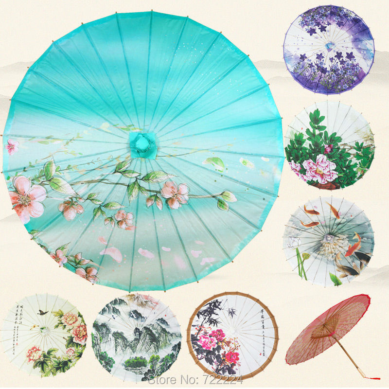 Dia 84cm Chinease Craft Umbrella Parasol Traditional Non-waterproof Decoration Cosplay Dance Gift Long-handle Umbrella dia 84cm chinese handmade craft umbrella arya avalokiteshvara painting parasol decoration gift dance props oiled paper umbrella