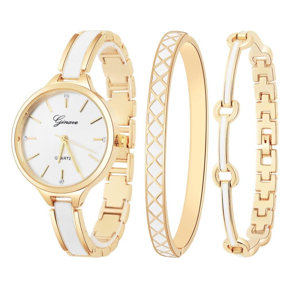 Новые Модные Стразы Часы Для женщин Роскошные Нержавеющаясталь браслет часы Женские кварцевые наручные часы Montres Femme