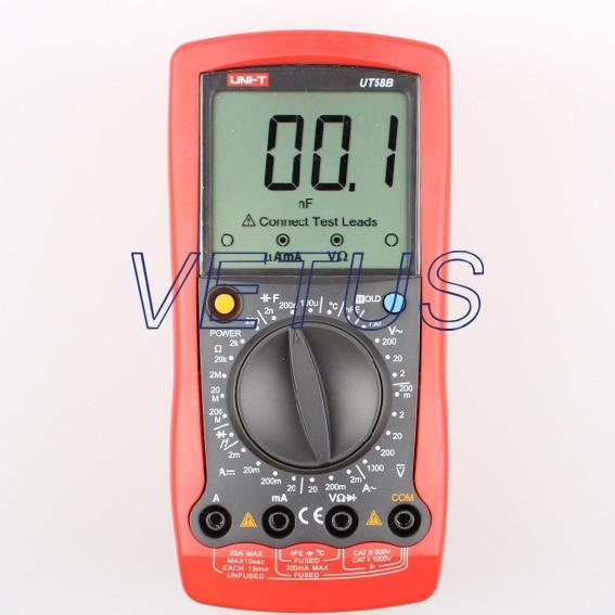 UNI-T UT58B Electrical Digital auto range multimeter with Voltage Current Temp Ohm as907a electrical resistivity measuring instruments with voltage range 500v 1000v 2500v